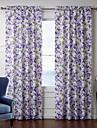 (Deux panneaux) de fantaisie amethyste rideau floral