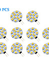 1.5W G4 Spot LED 12 SMD 5050 70 lm Blanc Chaud / Blanc Froid AC 12 V 10 pieces