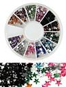 Forme d\'etoile strass acryliques roue nail art la decoration de 600pcs