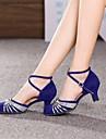 Chaussures de danse(Argent Or) -Non Personnalisables-Talon Cubain-Daim-Moderne Salon