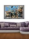 3d vägg klistermärken väggdekaler, havsbotten fisk dekor vinyl väggdekorationer