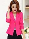ozl®women jakkeslaget slank ren farge dress (flere farger)