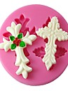 fyra c silikon inredning mögel 3d tårta mögel fondant verktyg färgen rosa