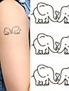 Tatueringsklistermärken - Non Toxic/Ländrygg/Waterproof - Djurserier - till Spädbarn/Barn/Dam/Herr/Vuxen/Tonåring - Svart/Rosa/Multifärgad - Papper -