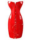 Costumes de Cosplay Uniformes Fete / Celebration Deguisement d\'Halloween Rouge Noir Couleur Pleine Robe Feminin Polyester