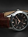 chenxi pu bracelet en cuir avec rose nombre d\'or montre a quartz d\'affaires