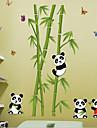 Panda amovible de l\'environnement et de bambou balises pvc&autocollant