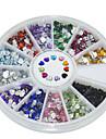 600pcs 12 kits couleur diamant amour 2mm acrylique nail art de decoration