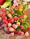 Une succursale Soie Plastique Roses Fleur de Table Fleurs artificielles #(26*14*14 cm(10.2*5.5*5.5 in))