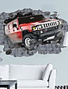 environnement pause de voiture 3d travers le sticker mural de mur concu