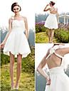 Lanting Bride® A-line / Princess Petite / Plus Sizes Wedding Dress - Chic & Modern / Reception See-Through Wedding Dresses Short / Mini