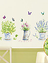 miljö avtagbar fjäril och vas pvc-taggar&klistermärke