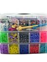 15000pcs arc-bandes de silicone couleur de style de metier, 240s-clips, deux metiers a tisser, une Metail 2 de crochet en plastique