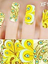 1X10PCS Full-cover Nail Art Stickers Leopard Print Series XF1491