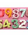 stora 0-9 siffror formade fondant tårta choklad silikonform sm-318