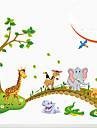 petit animal amovible environnement traverser les balises pont pvc&autocollant