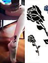 Tatueringsklistermärken - Non Toxic/Stam/Ländrygg/Waterproof - Blomserier - till Dam/Herr/Vuxen/Tonåring - Svart/Grön - Papper - 1 pc-