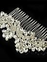 Vintage Wedding Party Bride Bridesmaid Flower Austria Crystal Silver Combs Hair Accessories