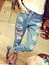 micro casuale medie dei jeans elastici dei pantaloni delle donne (denim)