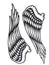 Yimei - Tatueringsklistermärken - Stor storlek/Waterproof - Djurserier - till Dam/Herr/Vuxen/Tonåring - Svart - Papper - 1 - styck 34.2cm*22.5cm