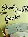 miljö avtagbar fotboll mönster pvc vägg sticker