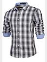 Chemises informelles ( Coton ) Vintage/Informel/Soiree/Travail Manches longues pour Homme