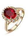 Inele Afirmatoare Cristal imitare Ruby imitație de diamant imitație de diamant Aliaj Pietrele Lunilor Clasic BijuteriiNuntă Petrecere