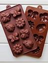 mode silikon choklad mögel godis forma kaka Utsmyckning kaka matlagning verktyg is modellering mögel (slumpmässig färg)