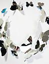 nya heminredning spegel pvc fjäril vägg klistermärke 12pcs / set