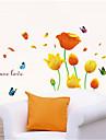 Wall Stickers Väggdekaler, fjärilar och blommor pvc väggdekorationer