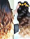3pcs / lot ombre brasilianskt hår obearbetade ombre förkroppsligar vinkar 1b # 4/27 människohår väva