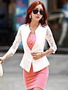 Women\'s Casual Work Thin Short Sleeve Regular Blazer (Chiffon)