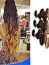3pcs / lot ombre brasilianska jungfru hår förkroppsligar vinkar ombre hårförlängningar människohår väft 3 färgton 1b # 4 # 27 #