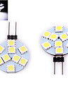 G4 LED Doppel-Pin Leuchten 9 SMD 5050 200 lm Warmes Weiss / Kuehles Weiss DC 12 V 1 Stueck