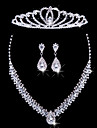 Ladies\'/Women\'s Alloy Wedding/Party Jewelry Set With Rhinestone