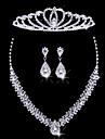 Ladies\'/Women\'s Alloy Wedding/Party Jewelry Set With Rhinestone