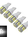 3W T10 Lampe de Decoration 10 SMD 7020 210lm lm Blanc Froid DC 12 V 5 pieces