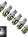 T10 Inredningsglödlampa 5 SMD 5050 70-90lm lm Kallvit DC 12 V 6 st
