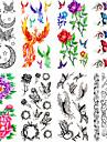 Tatueringsklistermärken - Non Toxic/Mönster/Waterproof - Djurserier/Blomserier/Annat - till Dam/Vuxen/Tonåring - Multifärgad - Papper -12