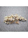Elegant Women Rhinestone/Crystal/Alloy Hair Combs/Flowers With Wedding/Party Headpiece