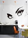 3d väggdekorationer väggdekaler, stil folk charmiga ögon pvc vägg klistermärken