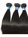 """3pcs / lot +10 """"-28"""" brasiliansk människohår naturligt svart värmebeständig naturligt rakt obearbetat hår remy hot sell"""
