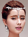 Femei Ștras Titan Diadema-Nuntă Ocazie specială Exterior Lănțișor de cap