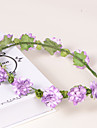 Lavender Paper/Plastic Wreaths With Wedding/Party Headpiece