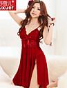 Feminin Ultra Sexy Pijamale Dantelă / Polyester Solid Roșu