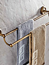 Antique Brass 24 Inch Double Towel Bars