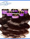 6Pcs 300Grams Lot 5A Cheap Peruvian Virgin Human Hair Body Wave 100% Human Hair Extensions Color1B No Shedding