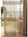 Country Curtains® One Panel Gold Floral Jacquard Sheer