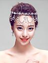 Mujer Diamantes Sinteticos / Aleacion / Perla Artificial Celada-Boda / Ocasion especial / Al Aire Libre Cadena para la Cabeza