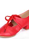 Chaussures de danse(Noir Rouge Autre) -Non Personnalisables-Talon Bas-Cuir-Baskets de Danse